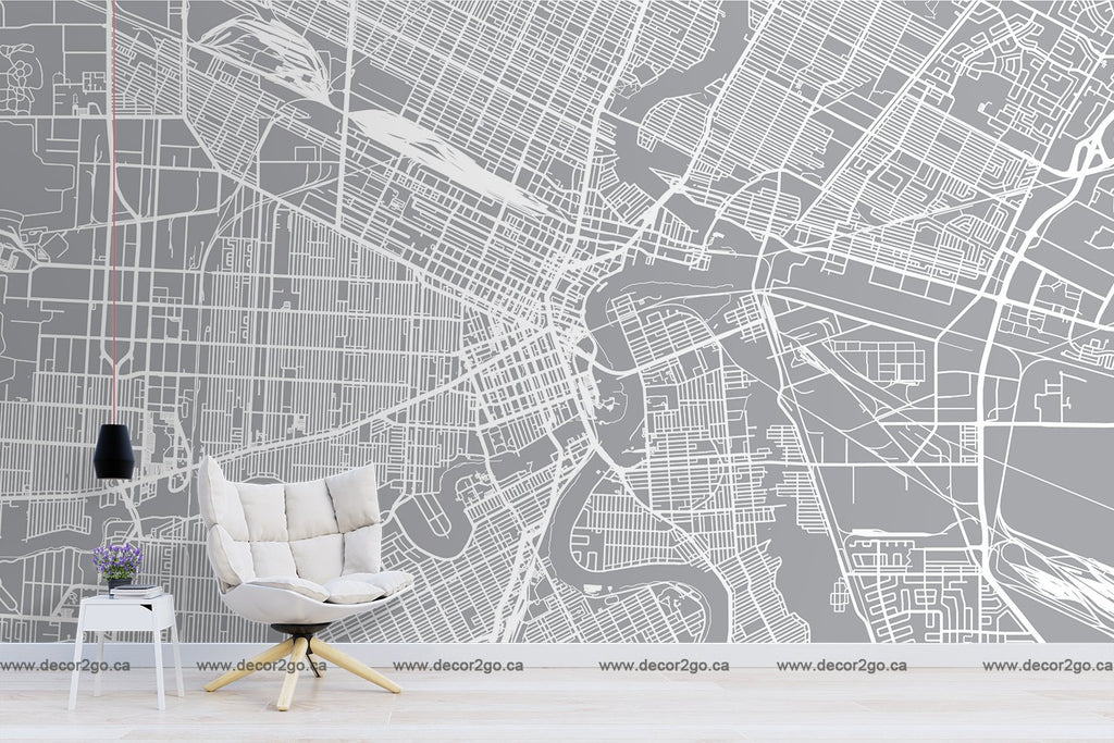 Map,, Mural, Wallpaper