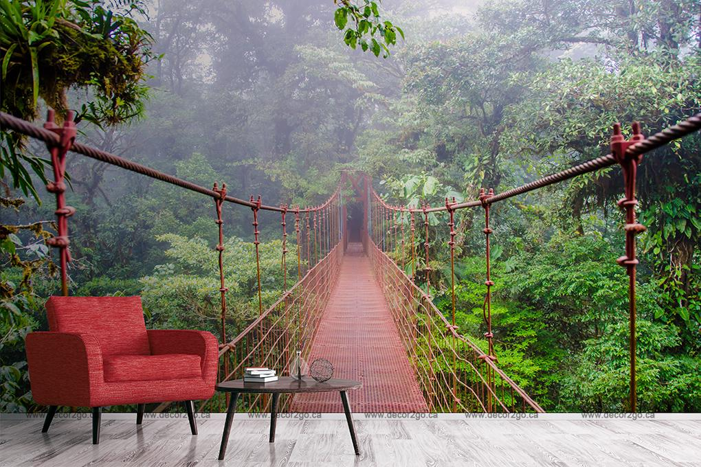 Bridge, Jungle, Mural, Wallpaper