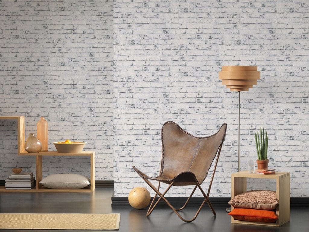 907837, NEW ENGLAND, AS-CREATION, brick, white, wallpaper