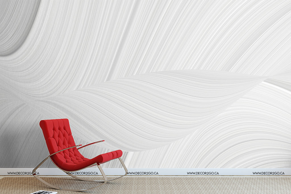 White 3D waves texture wallpaper decoration 3d background with an abstract pattern of waves and lines in a space theme.