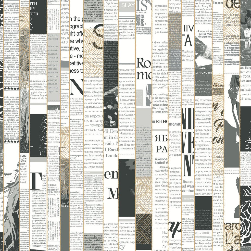 York Wallcoverings, York Wallpaper, Non Woven Wallpaper, Nonwoven Wallpaper, Removable Wallpaper, Easy Wallpaper, Wallcovering, Wall Covering, Culture Club, Contemporary Wallpaper, Modern Wallpaper,CE3970,Read Between the Lines Wallpaper - Black/White
