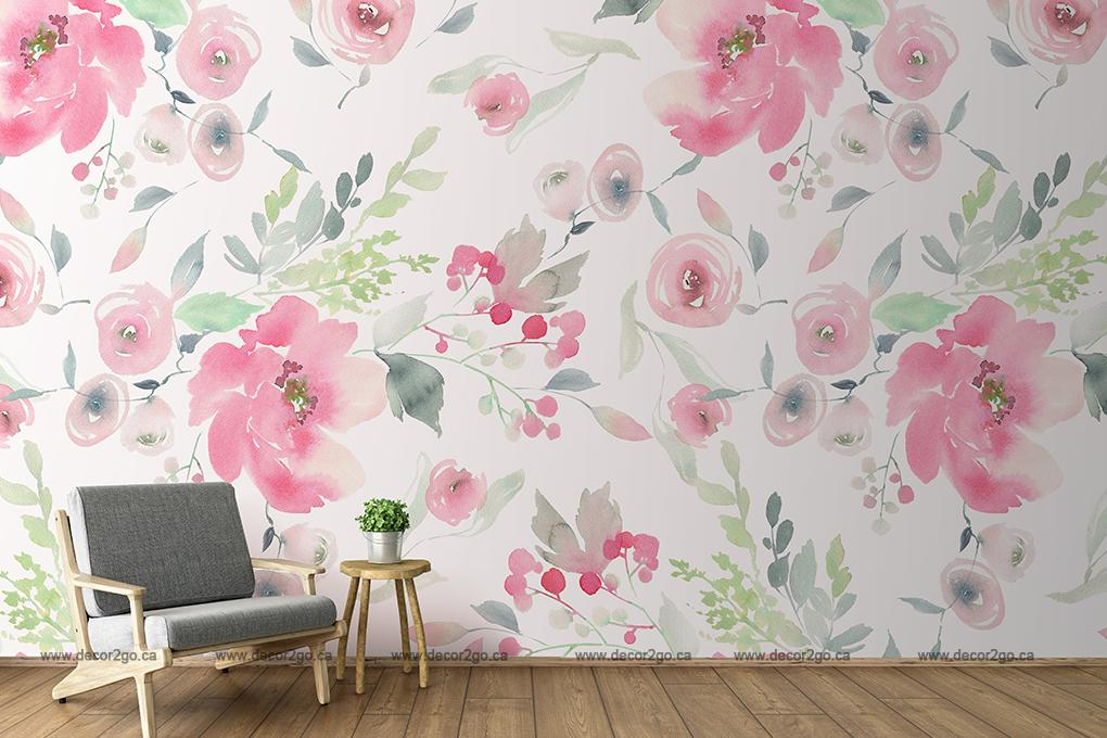 Peonie, Rose,, Mural, Wallpaper