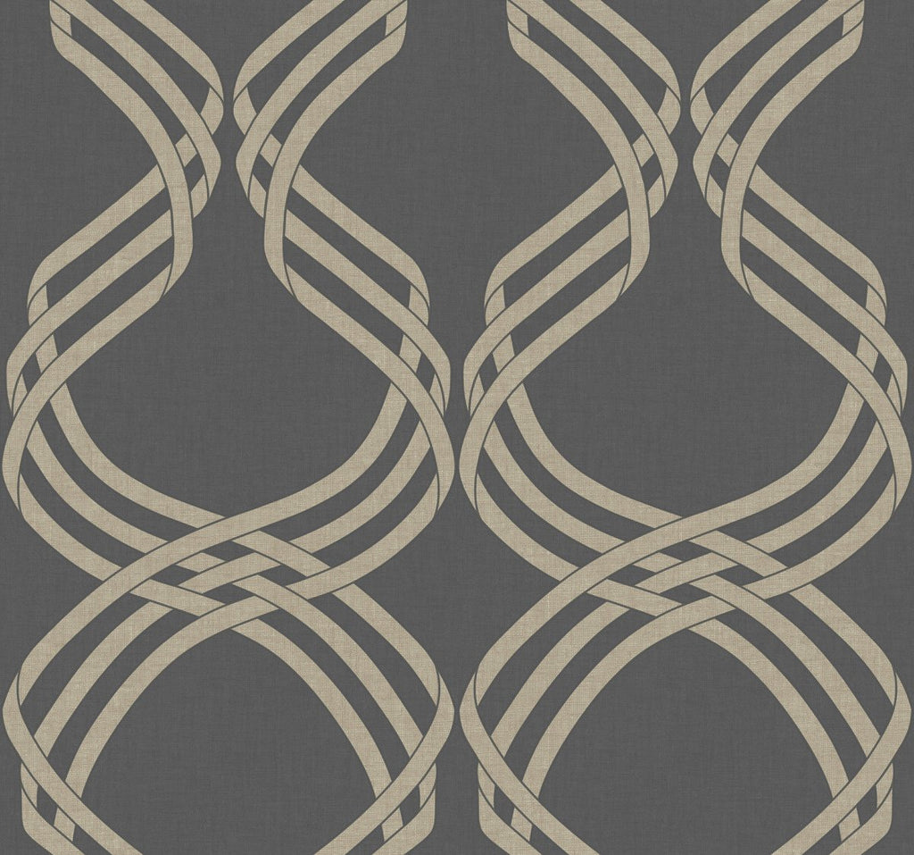 York Wallcoverings, York Wallpaper, Non Woven Wallpaper, Nonwoven Wallpaper, Removable Wallpaper, Easy Wallpaper, Wallcovering, Wall Covering, Mod, Modern, Ribbon, Ogee, Trellis,NV5568,Dante Ribbon Wallpaper