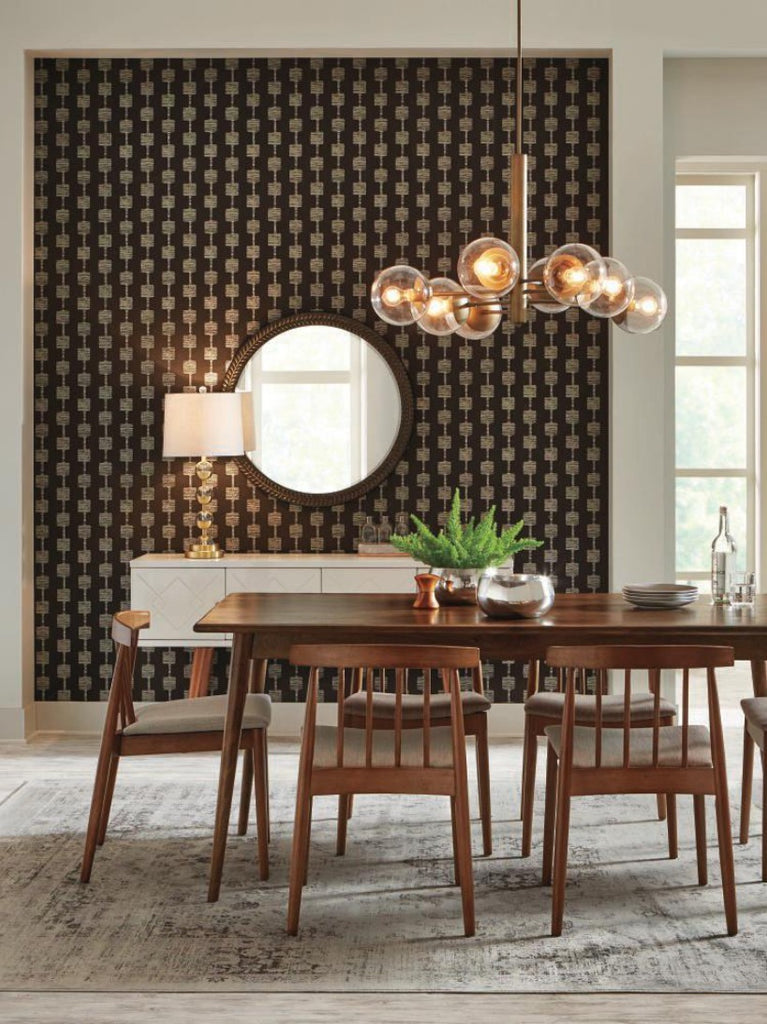 York Wallcoverings, York Wallpaper, Non Woven Wallpaper, Nonwoven Wallpaper, Removable Wallpaper, Easy Wallpaper, Wallcovering, Wall Covering, Mid Century, Mid Century Wallpaper,Y6220403,Micro Mini Wallpaper - Black/Glint