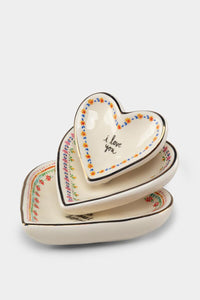 Dish Set - I Love You (Heart Shaped)