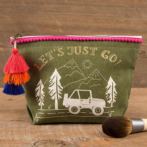 Cosmetic Pouch - Let's Just Go