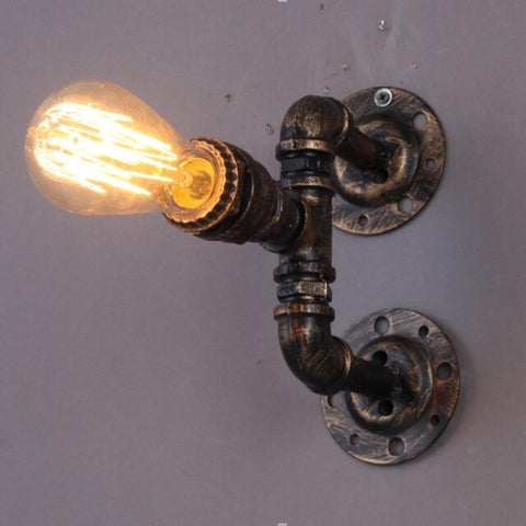 Sanyi Vintage Iron Water Pipe Wall Lamp Aisle Stair Wall Lighting Fixture Loft Wall Sconces With E27 Edison Incandescent Bulb