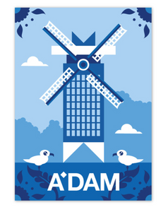 Postcard Amsterdam ADAM Tower