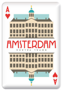 Magnet Amsterdam Royal Palace Dam Square Playing Card Ace