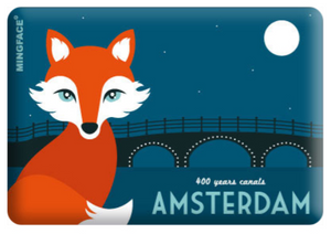 Magnet Amsterdam Canal Fox 400 Year Anniversary Amsterdam Canal District Herengracht Keizersgracht Prinsengracht Amstel River