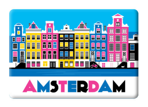 Magnet Amsterdam Colorful Canal Houses Canal District Herengracht Keizersgracht Prinsengracht