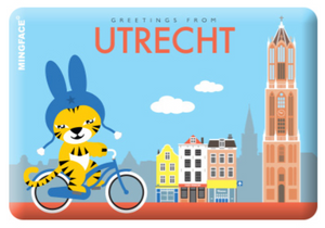 Magnet Utrecht Miffy on Bike Dom Tower