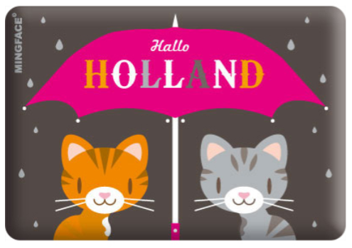 Magnet Holland Hallo Umbrella Cats in the Rain