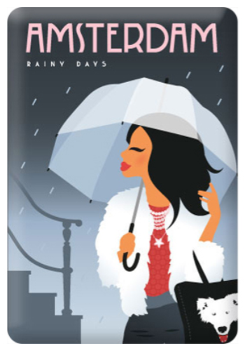 Magnet Amsterdam Rainy Days Lady with Umbrella