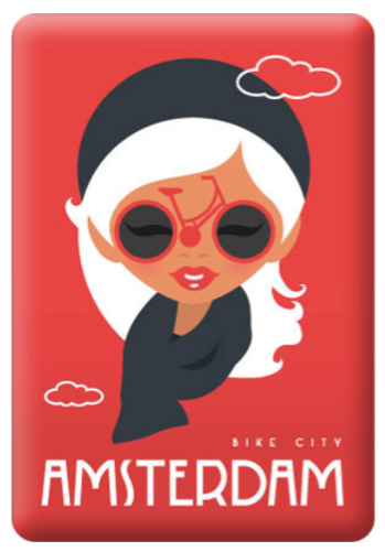Magnet Amsterdam Cheers Fashion Lady Bike City Bike Glasses