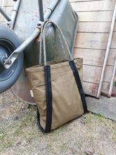 Load image into Gallery viewer, Shopping Bag Recycled Military Canvas