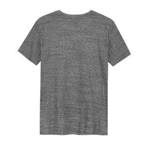 Birds on a Wire - Loenatix Organic Cotton Fairtrade T-shirt color Steel Grey Backside Animal Print T-shirt