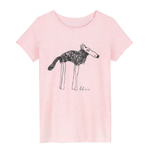 Load image into Gallery viewer, Lola Shepherd Doggie - Loenatix Ecocotton  Fairtrade Childrens T-shirt color Pink Animal Print T-shirt