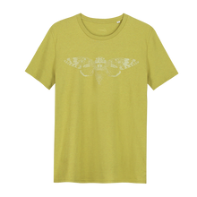 Load image into Gallery viewer, Cicade Glow in the Dark - Loenatix Organic Cotton Fairtrade T-shirt color Yellow Animal Print T-shirt
