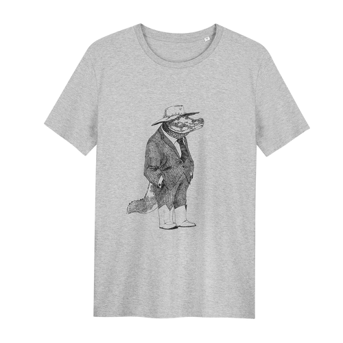 Angus The Alligator -  Loenatix Organic Cotton Fairtrade T-shirt Animal  Print T-shirt color Grey