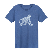 Load image into Gallery viewer, Monkey T-shirt - Loenatix Organic Cotton Fairtrade T-shirt color Indigo Blue