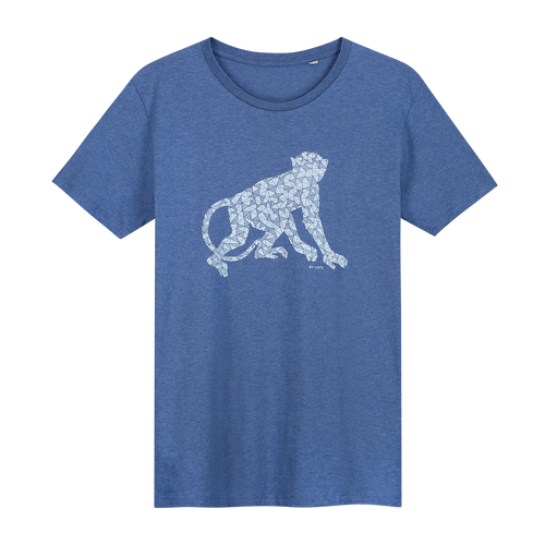 Monkey T-shirt - Loenatix Organic Cotton Fairtrade T-shirt color Indigo Blue