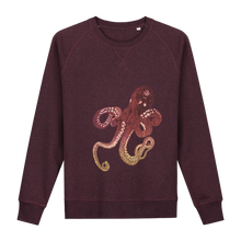 Load image into Gallery viewer, Octopus Bordo Glow in the Dark Sweater - Loenatix Organic Fairtrade Sweater color Bordeaux