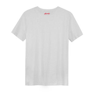 XXX Amsterdam Cream White (Red) - Loenatix Organic Fairtrade T-shirt color Cream White Backside