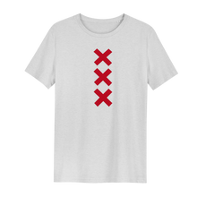 Load image into Gallery viewer, XXX Amsterdam Cream White (Red) - Loenatix Organic Fairtrade T-shirt color Cream White