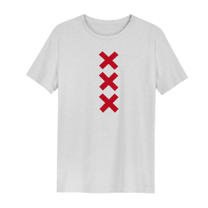 XXX Amsterdam Cream White (Red) - Loenatix Organic Fairtrade T-shirt color Cream White