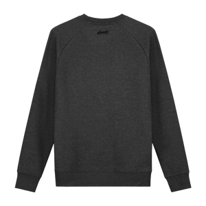 XXX Amsterdam Dark Heather Grey (Black) - Loenatix Fairtrade Sweater Amsterdam Sweater color Dark Heather Grey Backside