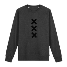 Load image into Gallery viewer, XXX Amsterdam Dark Heather Grey (Black) - Loenatix Fairtrade Sweater color Dark Heather Grey Amsterdam Sweater