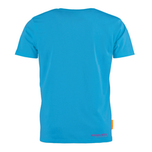 Load image into Gallery viewer, Okimono Missing Dots Blue Backside T-shirt