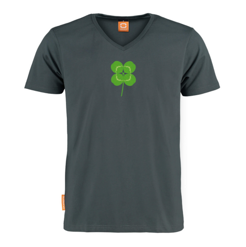 Okimono One4Luck Lucky Clover Klavertje 4 Vier Graphic T-shirt V-neck T-shirt