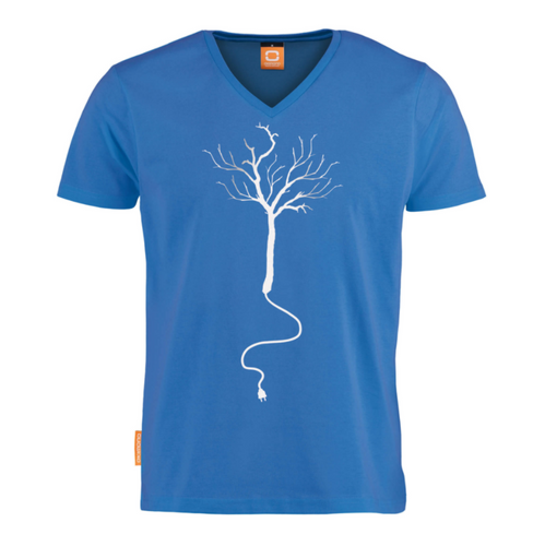Okimono Recharge Them Woods Blue T-shirt V-neck T-shirt