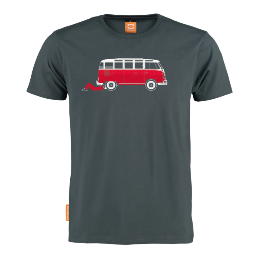 Okimono The Project VW Transporter Car Mechanics Automonteur T-shirt Round neck T-shirt