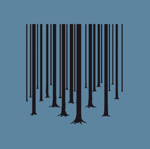 Okimono A Forest Blue Barcode The Cure Graphic Close-Up