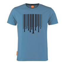 Load image into Gallery viewer, Okimono A Forest Blue Barcode The Cure Graphic T-shirt Round neck T-shirt