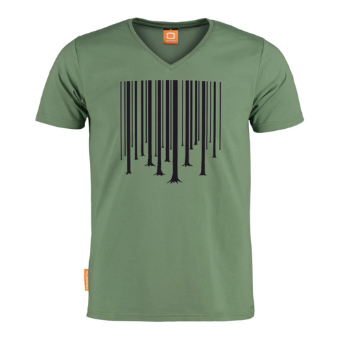 Okimono A Forest T-shirt Green Barcode The Cure Graphic T-shirt V-neck T-shirt