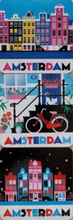 Load image into Gallery viewer, Coasters Onderzetters Amsterdam Canal Houses Colorful Bike Cat Keizersgracht Nieuwmarkt