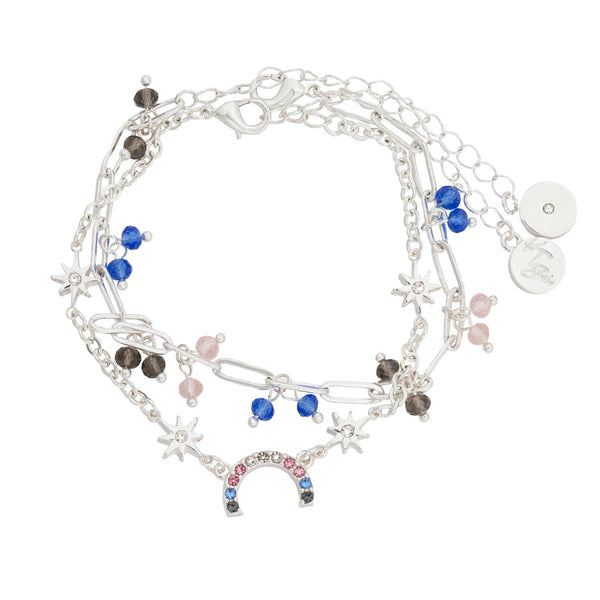Bibi Bijoux, Kate Thornton ' Hope' Pastel Rainbow Bracelet Set