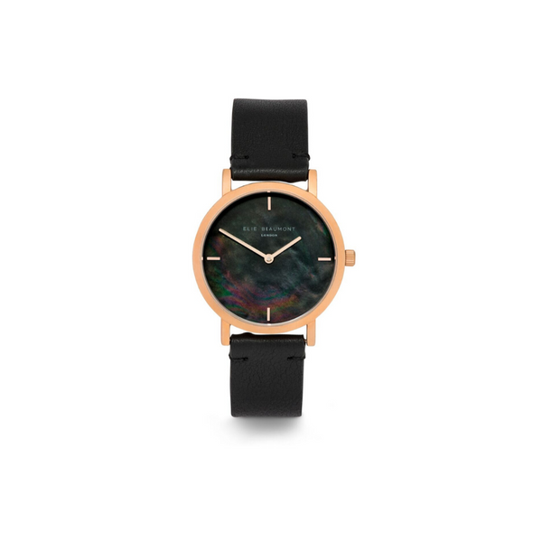 Elie Beaumont Black Kensington watch