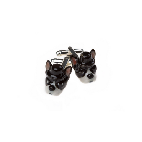 And Mary Elvis the Boston Terrier cufflinks