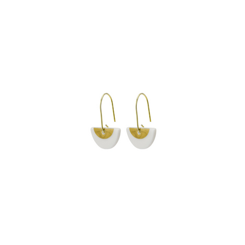 One & Eight  Porcelain Gold Ora earrings
