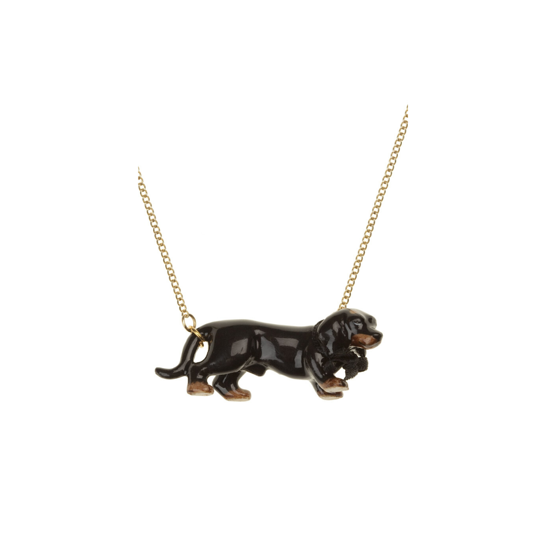 And Mary Walking Dachshund Necklace