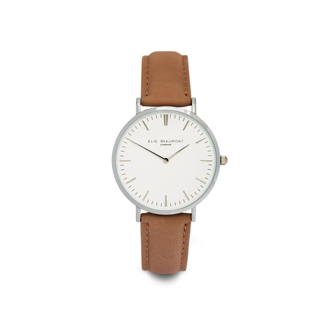 Elie Beaumont Large Blush Pink Oxford watch