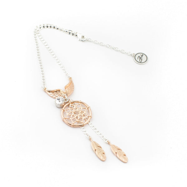Bibi Bijoux Short Dreamcatcher necklace.