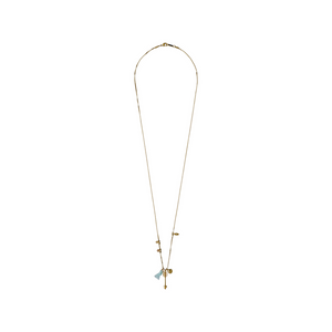 Pilgrim Long Gold Charm necklace