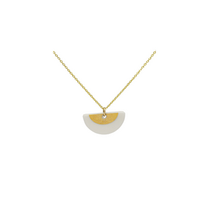 One & Eight Porcelain Gold Ora necklace