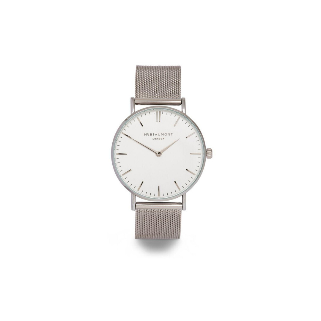 Mr Beaumont Silver Mesh Gents Watch